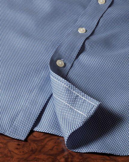 Extra slim fit non-iron honeycomb mid blue shirt