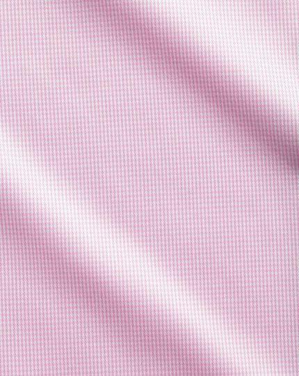 Extra slim fit cutaway non-iron puppytooth light pink shirt