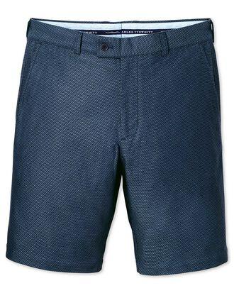 Blue slim fit dobby shorts