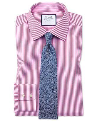 Slim fit Bengal stripe pink shirt