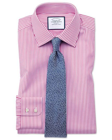 Chemise rose slim fit à rayures Bengale