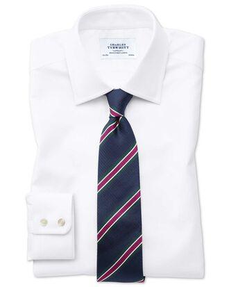 Chemise blanche en oxford royal de coton égyptien coupe droite