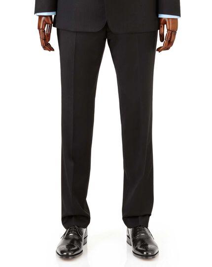 Pantalon de costume noir en tissu italien slim fit