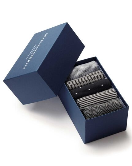 Black sock gift box