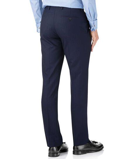 Blue stripe slim fit Panama business suit pants