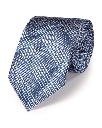 Sky silk classic Prince of Wales check tie