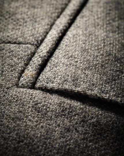 Classic Fit Luxus-Tweedsakko in Grau mit Karos