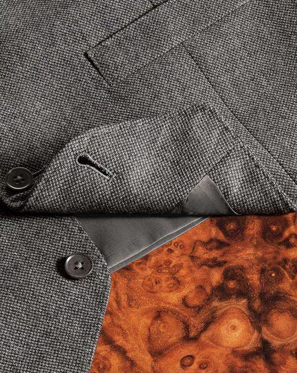 Gilet de costume business argent coupe ajustable en flanelle