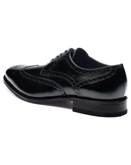 Black Hedley wingtip brogue shoes