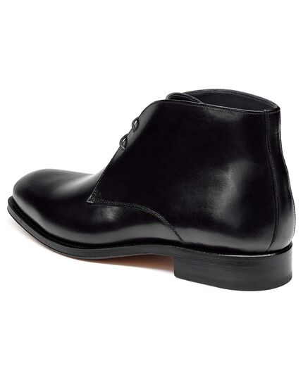 Black chukka boot