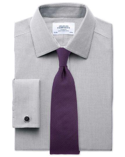 Chemise grise coupe droite sans repassage