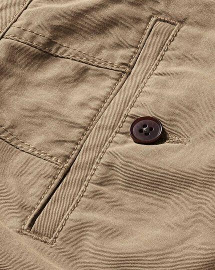 Chino-Shorts in Gelbbraun