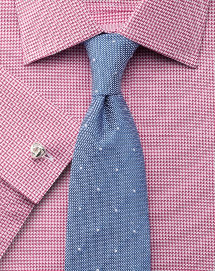 Classic fit Egyptian cotton puppytooth pink shirt
