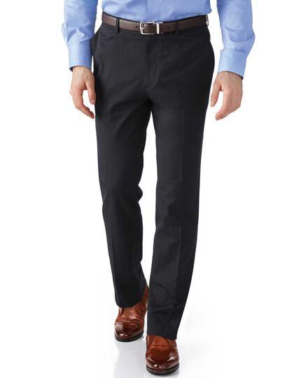 Grey slim fit stretch cavalry twill trousers