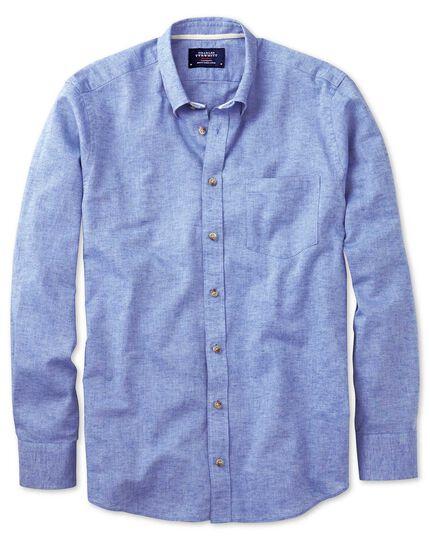 Slim Fit Hemd in Mittelblau