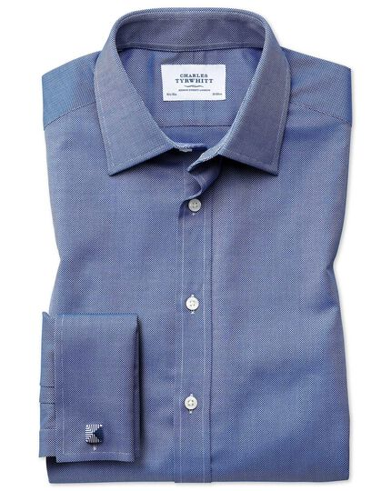 Extra slim fit Egyptian cotton royal Oxford royal blue shirt