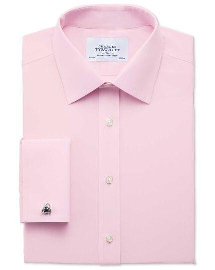 Slim fit non-iron poplin light pink shirt