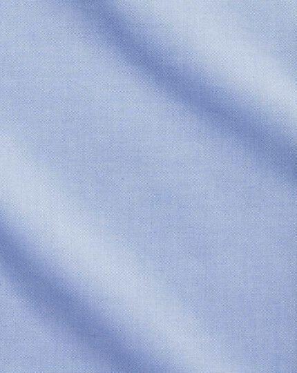 Chemise business casual bleu ciel coupe droite sans repassage à col boutonné