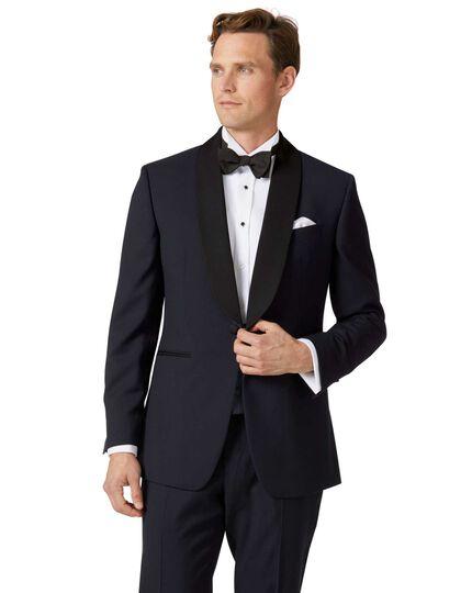 Navy slim fit shawl collar tuxedo jacket
