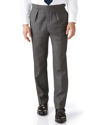 Pantalon de costume de cérémonie gris foncé coupe droite