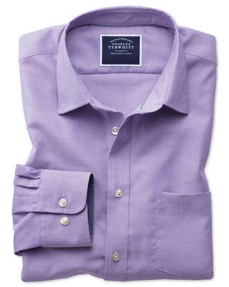 Chemise violette unie oxford slim fit sans repassage