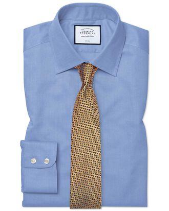 Classic fit non-iron royal Panama blue shirt