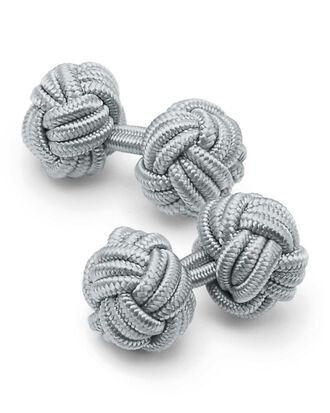Grey knot cuff links