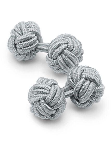 Boutons de manchette gris à nœuds