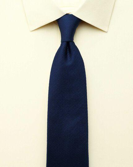 Extra Slim Fit Hemd aus ägyptischer Baumwolle und Cavalry-Twill-Gewebe in Gelb