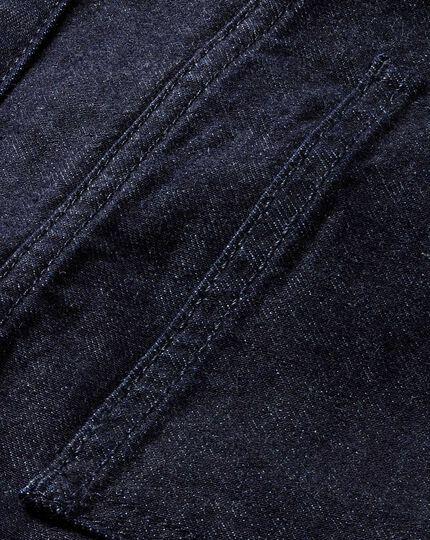 Dark blue classic fit 5 pocket denim jeans
