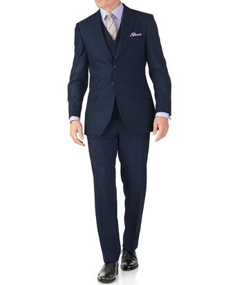 Slim Fit Panama Luxus Anzug in Blau
