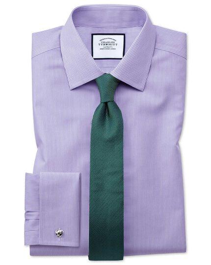 Classic fit non-iron Bengal stripe lilac shirt