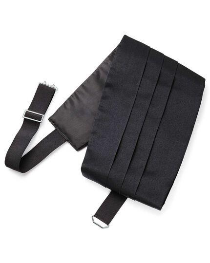 Black silk cummerbund