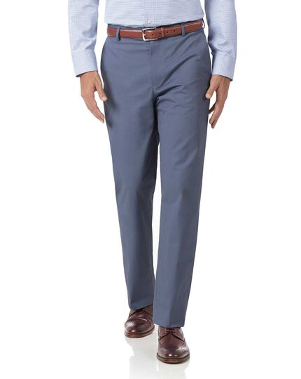 Blue classic fit stretch chinos
