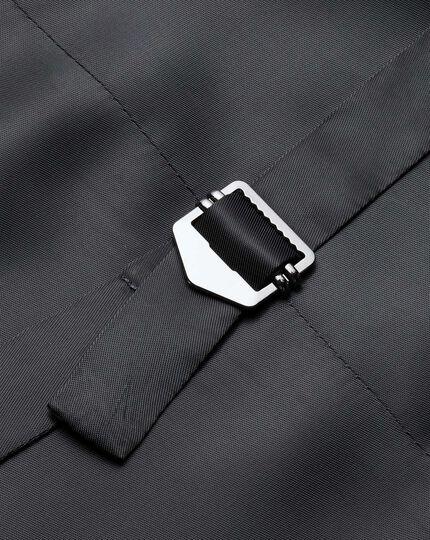 Gilet de costume business Prince de Galles gris en Panama coupe ajustable