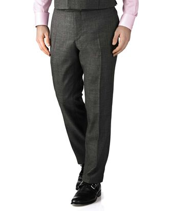 Dark grey slim fit morning suit trousers