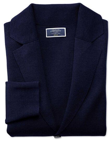 Navy merino wool blazer