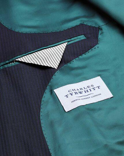 Navy herringbone slim fit Italian suit jacket