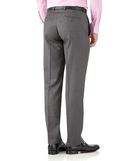 Grey classic fit Italian suit pants