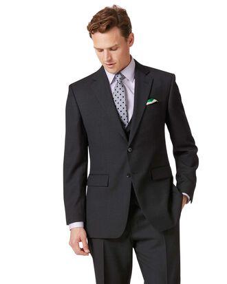 Veste de costume business charcoal en twill coupe droite