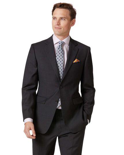 Slim Fit Business Anzug Sakko aus Twill in Anthrazit