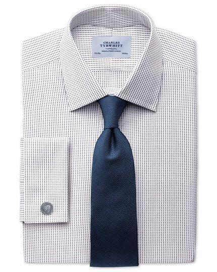 Extra Slim Fit Hemd aus beidseitiger Pima-Baumwolle in Braun