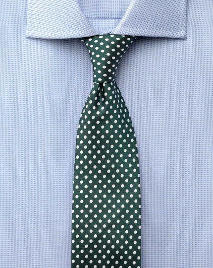 Classic fit semi-spread collar Regency weave sky blue shirt