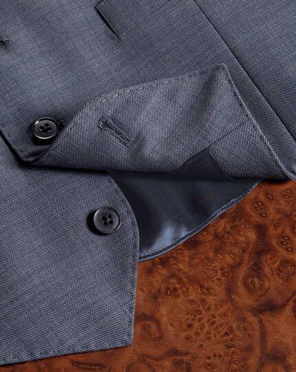 Light blue adjustable fit sharkskin travel suit waistcoat