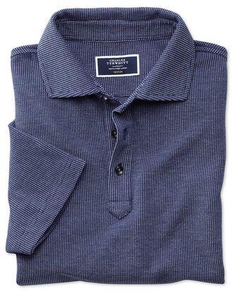 Poloshirt in Blau und Weiß mit Pfauenaugenmuster