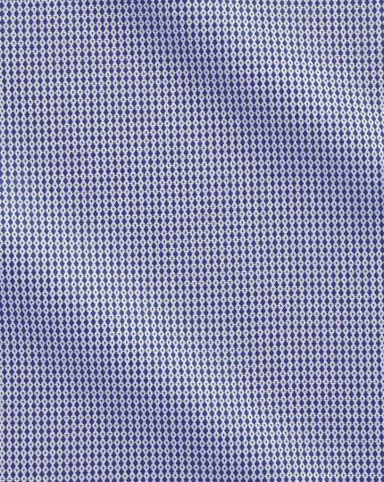 Slim fit Egyptian cotton diamond spot navy blue shirt