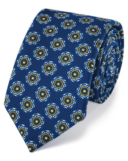 Royal wool printed wool Italian luxury tie