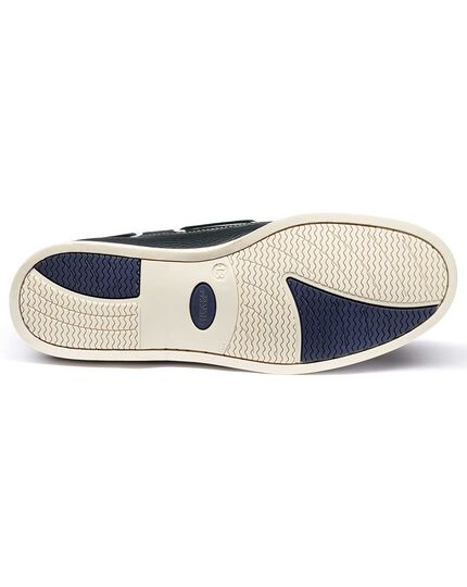 Navy Fowey boat shoes