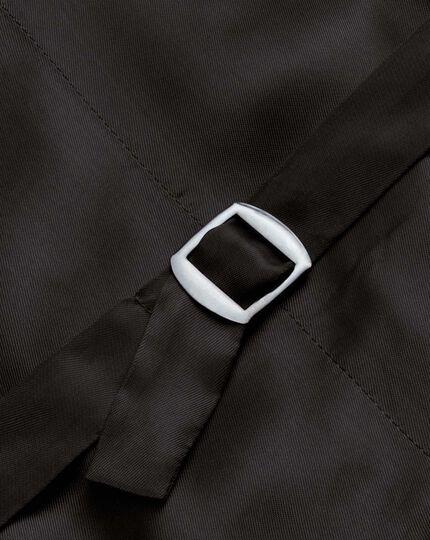 Brown check British Panama luxury suit waistcoat