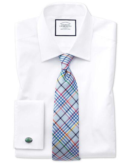 Sky blue multi silk Jermyn street design English luxury tie